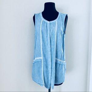 ❗️DKNY Light Blue Blouse MSRP $98!